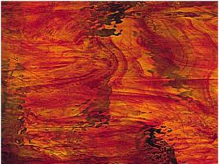Red   Amber - Water Glass