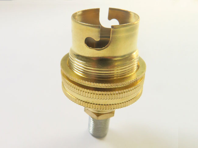 Brass Lamp Holder with 10mm thread and nut