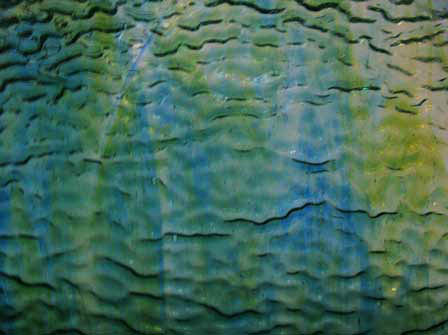 Wissmach   Blue  Green Ripple back