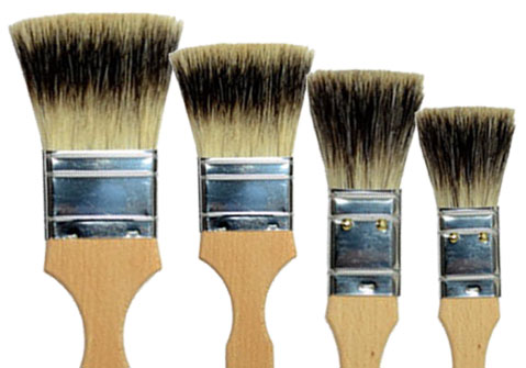 Thin Flat Badger Brush