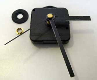 Quartz clock motor & hands