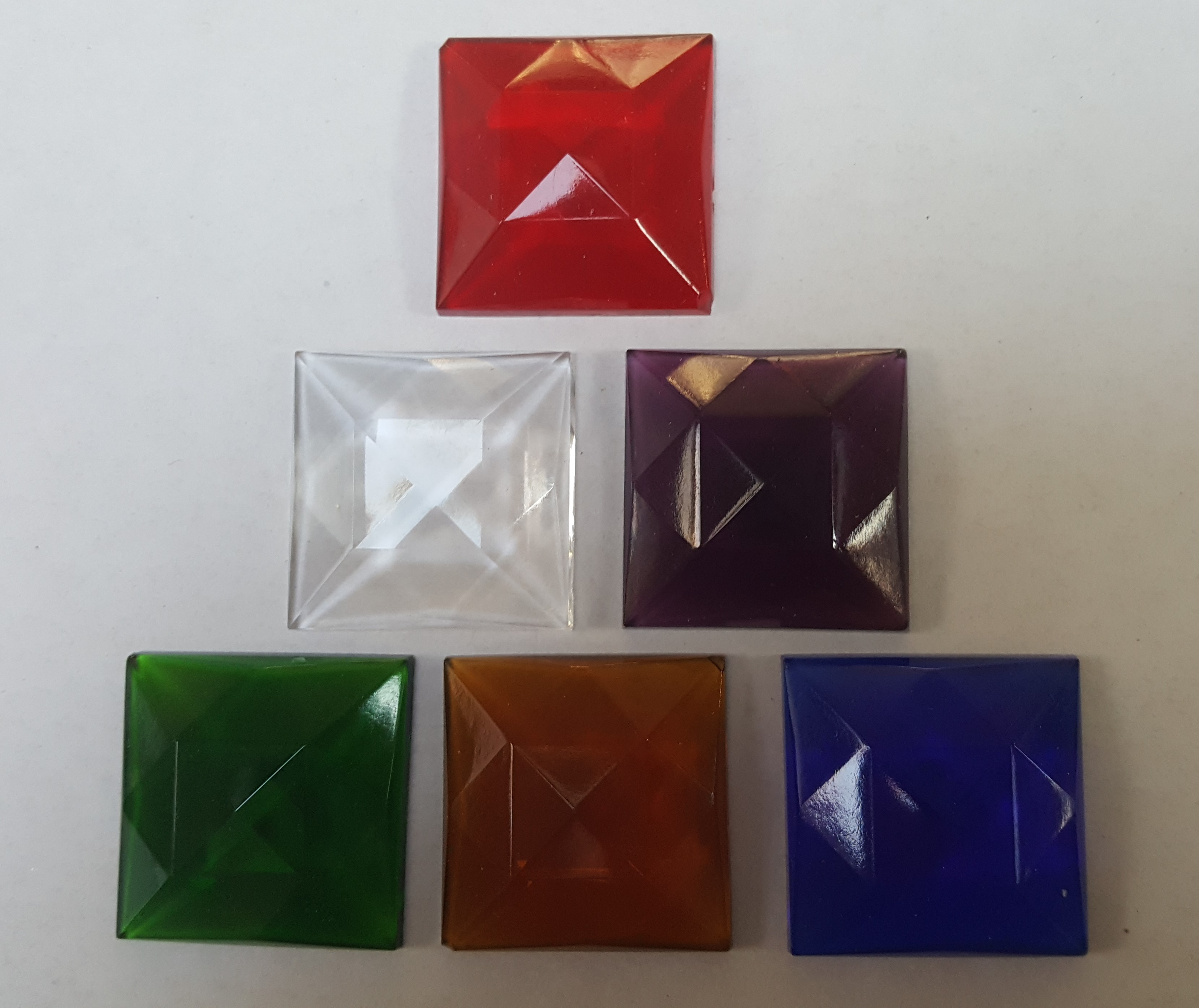 Square Faceted Jewels 30mm