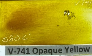 Yellow Opaque Enamel Paint